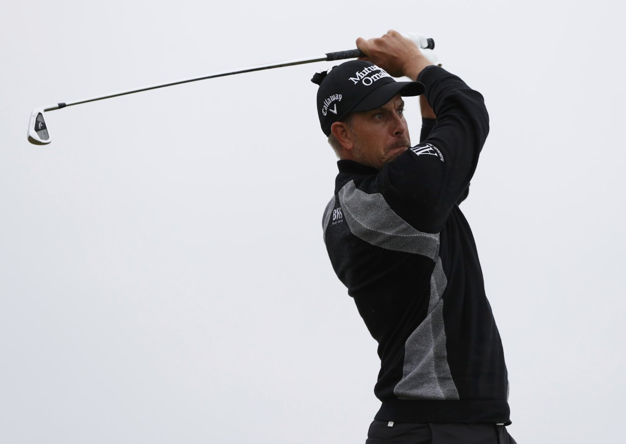 160715 Golf, British Open, Fredag: Golf - British Open - Sweden's Henrik Stenson watches his tee shot on the 16th hole during the second round - Royal Troon, Scotland, Britain - 15/07/2016.   REUTERS/Paul Childs   Picture Supplied by Action Images © BildbyrŒn - COP 7 - SWEDEN ONLY