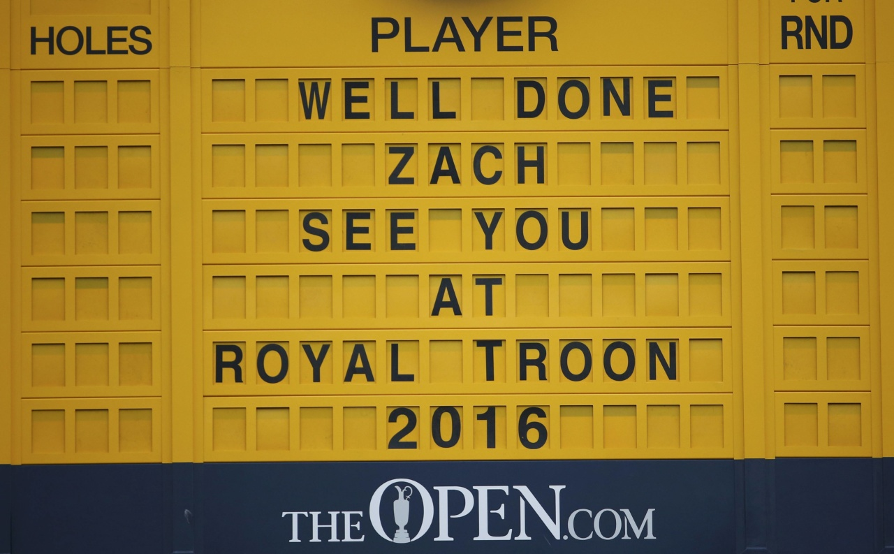 150722, Golf, British Open The scoreboard after Zach Johnson of the U.S. wins the British Open golf championship on the Old Course in St. Andrews, Scotland, July 20, 2015  REUTERS/Paul Childs   Picture Supplied by Action Images © BildbyrŒn - COP 7 - SWEDEN ONLY