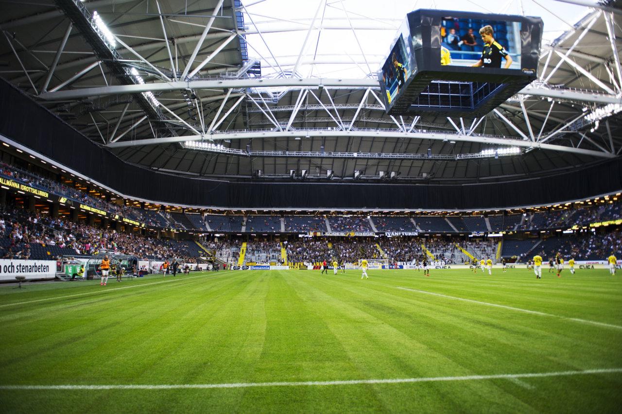 160731 Interišr av Friends Arena under fotbollsmatchen i Allsvenskan mellan AIK och Falkenberg den 31 juli 2016 i Stockholm.  Foto: Linnea Rheborg / BILDBYRN / Cop 189