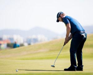 160813 Sveriges David Lingmerth under den tredje rundan av herrarnas golf den 13 augusti 2016 under OS i Rio de Janeiro. Foto: Petter Arvidson / BILDBYRN / kod PA / 91454