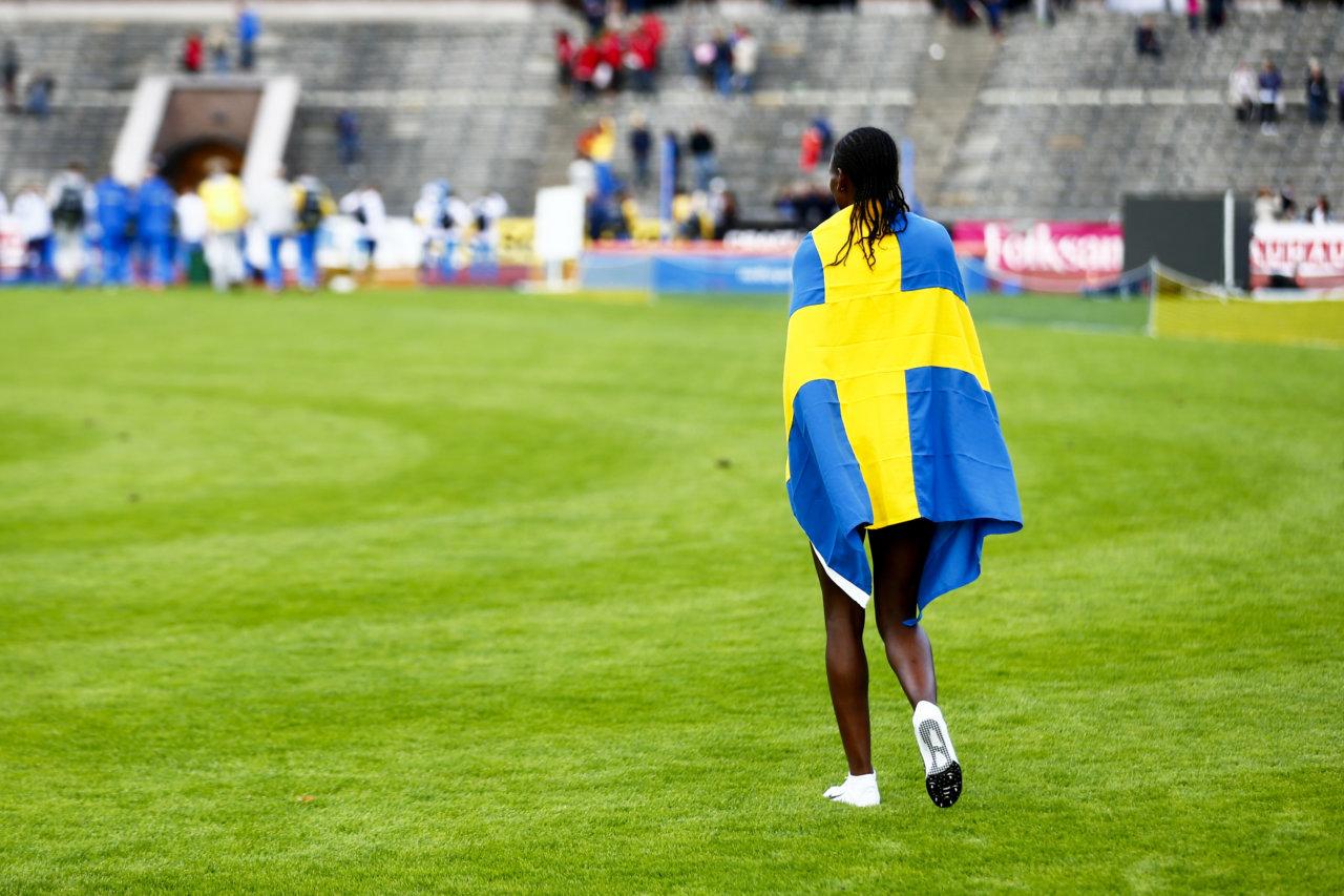 150913 Abeba Aregawi, Sverige under andra dagen av Finnkampen den 13 september 2015 i Stockholm. Foto: Josefine Loftenius / BILDBYRN / Cop 111